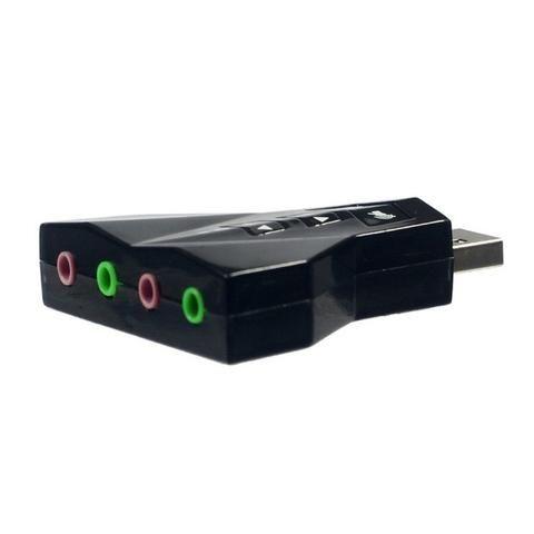 Adaptador Placa De Som 7.1 Usb 2.0 P2 P/ Fone/microfone Knup - Foto 2