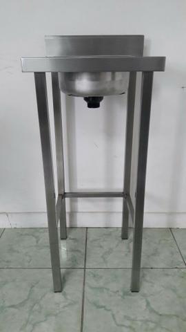Pia Inox com 1 cuba assepsia inox - Produto novo - Foto 2