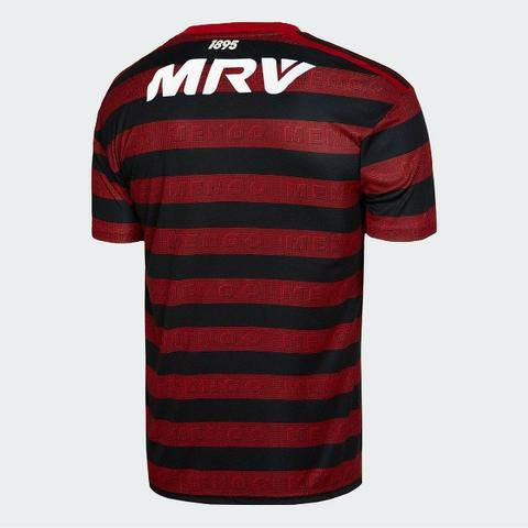 Camisa Flamengo I 19/20 s/nº Torcedor c/ Patrocínio Adidas Masculina - Foto 2