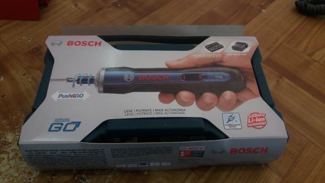 Parafusadeira bosch go 3.6v kit acessorios R$150,00 a vista novo sem uso com garantia - Foto 5