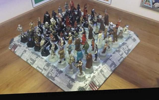 Coleção Star Wars Xadrez C/tabuleiro (64 Peças) Colecionador - Foto 2