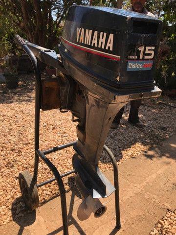Motor 2 Tempos Yamaha 15 Hp Usado Ano 1994 - Foto 7