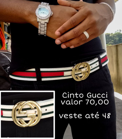 Cintos de griffe Lv, Gucci, versace, relogio ice, kit ice, corrente cravejada - Foto 5