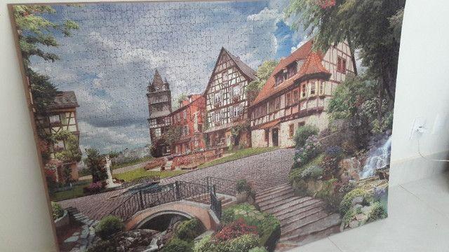 Quadro - Quebra-cabeça Vila Europeia para fazer quadro - Foto 2
