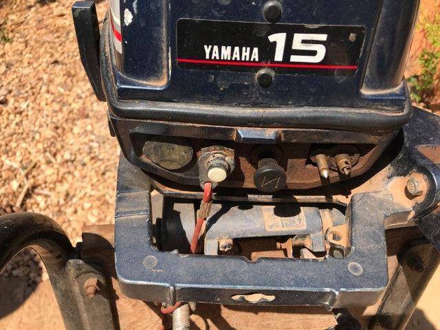 Motor 2 Tempos Yamaha 15 Hp Usado Ano 1994 - Foto 5
