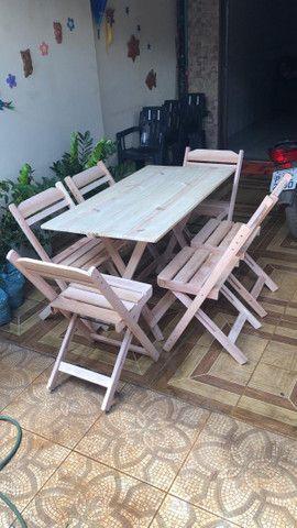 Mesas e cadeiras dobráveis  - Foto 4