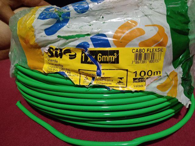 Cabo flexível verde  e azul 6 mm - Foto 2