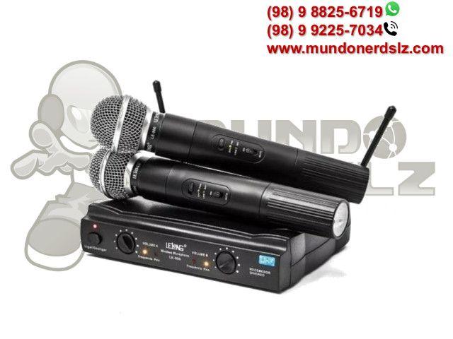 Microfone Sem Fio Duplo Uhf Wireless 110/220 Vts Lelong Le-906 em São Luís Ma - Foto 2