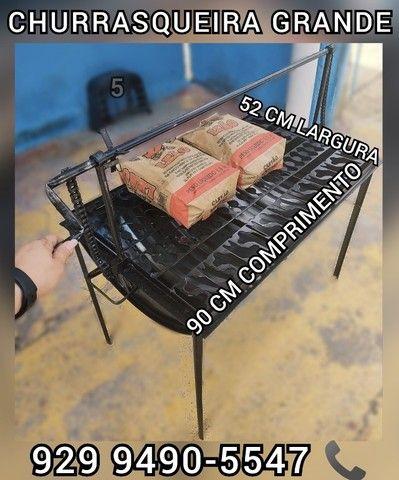 churrasqueira grande tambo  brinde 2 saco Carvão receba em casa hoje #@#@
