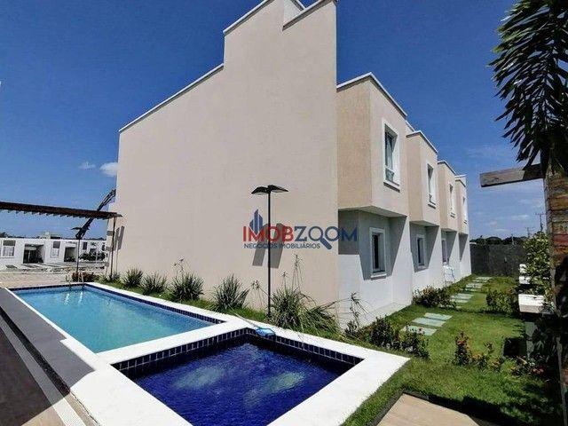Casa com 3 dormitórios à venda, 97 m² por R$ 319.000,00 - Jacunda - Aquiraz/CE - Foto 4