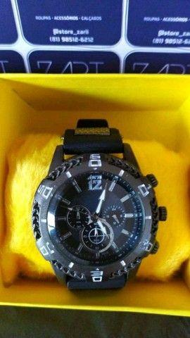 Relógio Masculino Silicone Luxo - Foto 2
