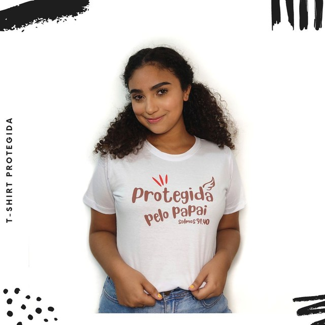 T-shirt Protegida pelo Papai