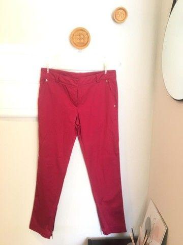 Calça vermelho cereja Le Lis Blanc TAM 38 usada - Foto 2
