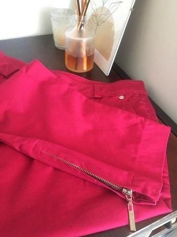 Calça vermelho cereja Le Lis Blanc TAM 38 usada - Foto 4