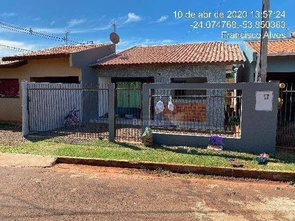 Casa à venda, 66 m² por R$ 62.624,61 - Loteamento Sonho Meu - Francisco Alves/PR