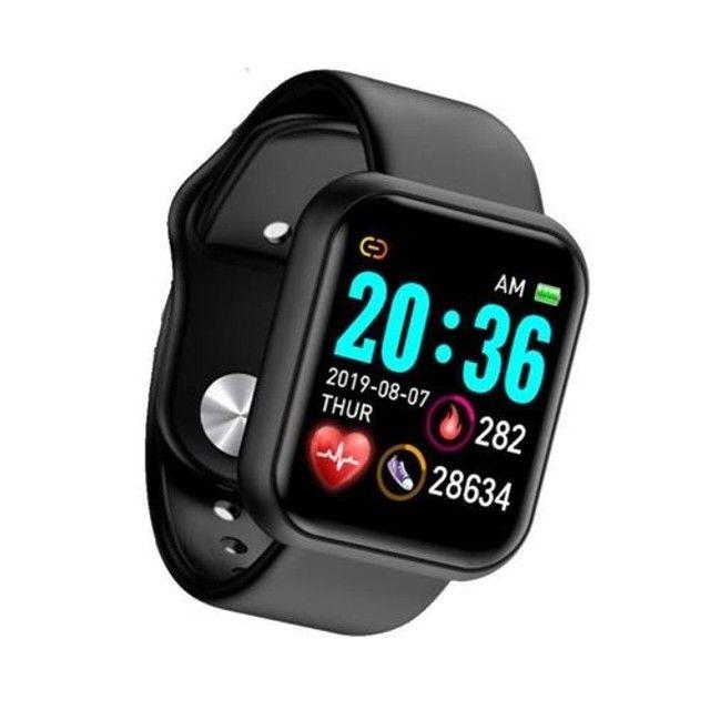 Relógio Smartwatch D20 + Pulseira Rosa - Foto 2