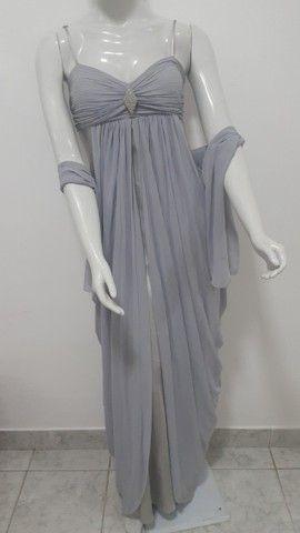 Vestido longo prata e cinza - Foto 5