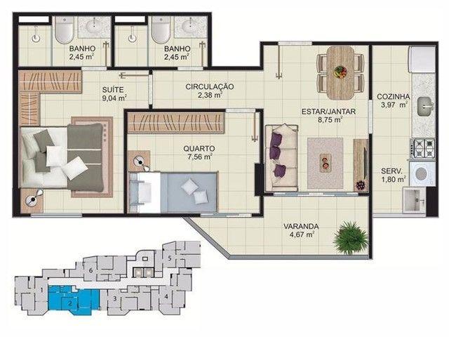 Apartamento para Venda em Vitória, Maruipe, 2 dormitórios, 1 suíte, 2 banheiros, 1 vaga - Foto 13