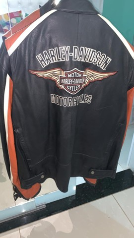 Jaqueta de Couro Masculina Harley Davidson - Foto 2