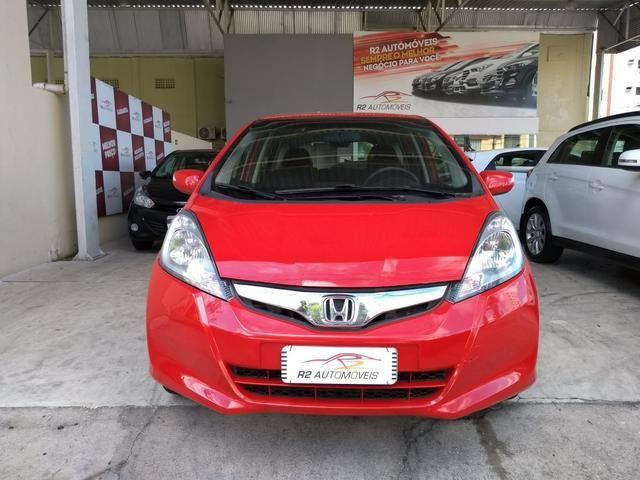 Honda 2014 Fit ex 1.5 Automatico Direcao Eletrica completo vermelho 2014 - Foto 2