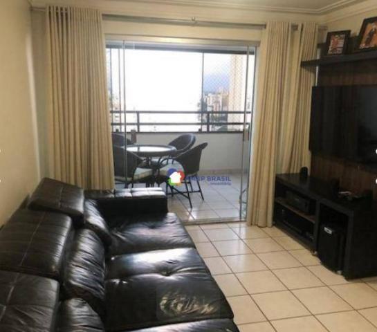 Apartamento com 3 dormitórios à venda, 125 m² por r$ 443.000 - setor bueno - goiânia/go