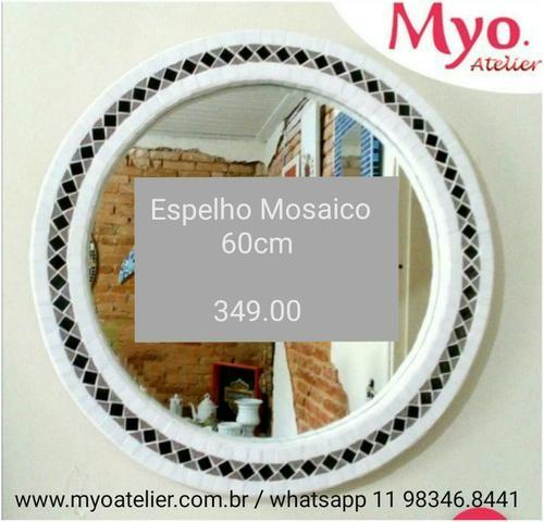 Moldura espelho Mosaico flores - Foto 4