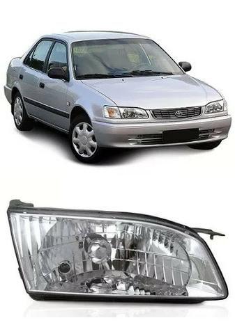 Farol Cromado Toyota Corolla 1998 1999 2000 01 2002 Direito