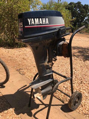 Motor 2 Tempos Yamaha 15 Hp Usado Ano 1994 - Foto 4