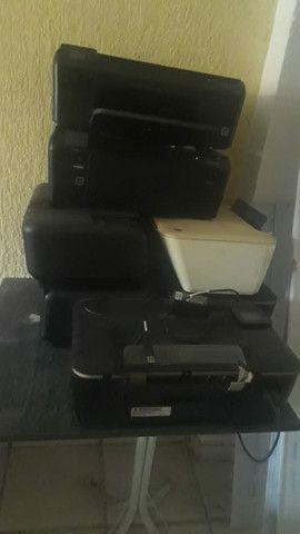 Impressoras 7 unidades para retirada de peças