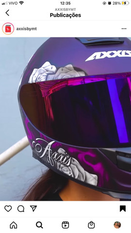 Capacete Axxis Lady Catrina  - Foto 2