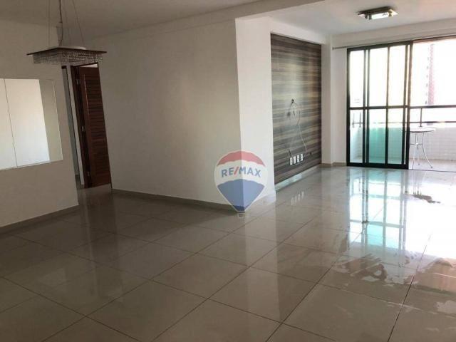 Apartamento com 3 dormitórios para alugar, 122 m² por R$ 2.400,00/mês - Manaíra - João Pes - Foto 2