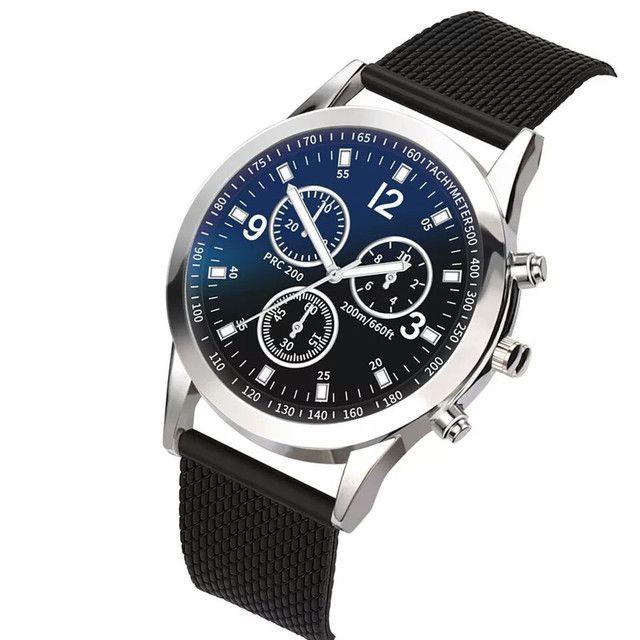 Relógio básico casual analógico de quartzo Aço Inoxidável para usar no dia a dia - Foto 2