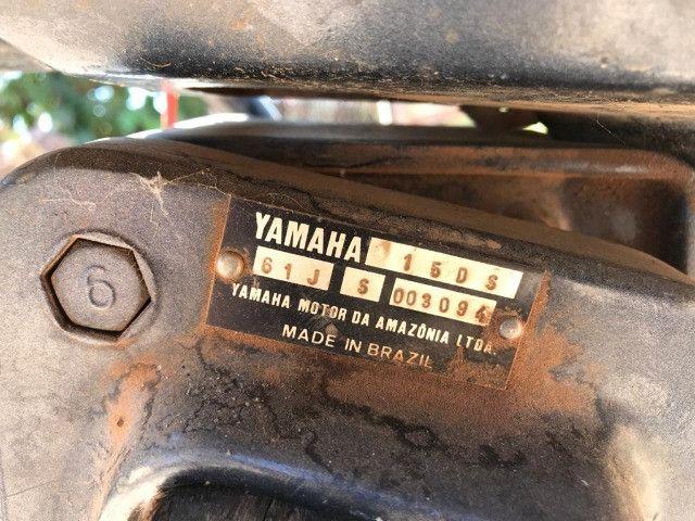 Motor 2 Tempos Yamaha 15 Hp Usado Ano 1994 - Foto 8