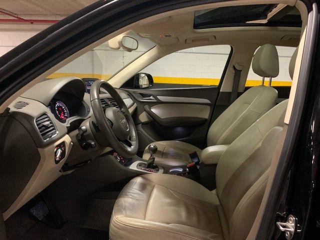Audi Q3 Ambition Quattro 2.0 211cv - 2013 -Interior Caramelo - Foto 9