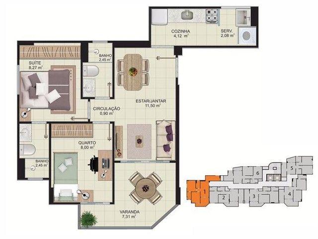 Apartamento para Venda em Vitória, Maruipe, 2 dormitórios, 1 suíte, 2 banheiros, 1 vaga - Foto 12