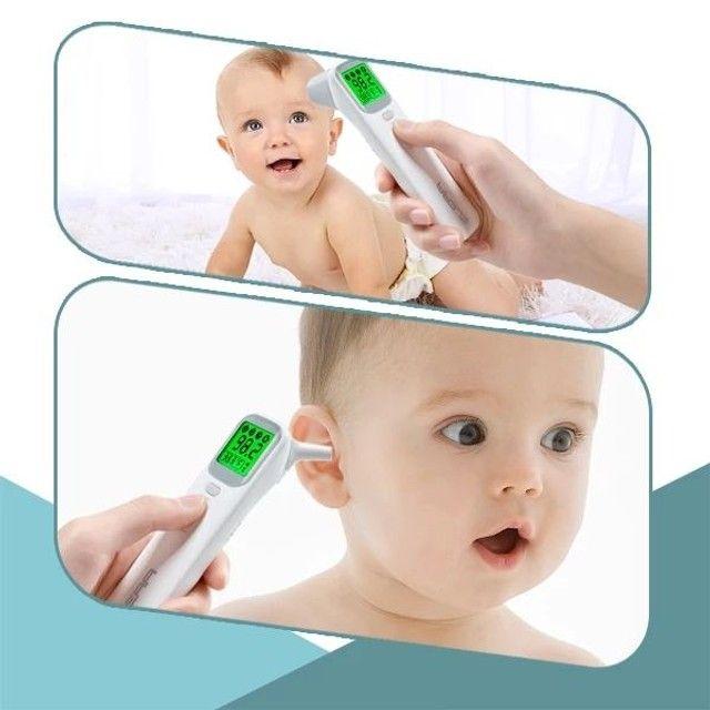 Termômetro digital ELERA sem contato para uso adulto/infantil + oxímetro - Foto 3