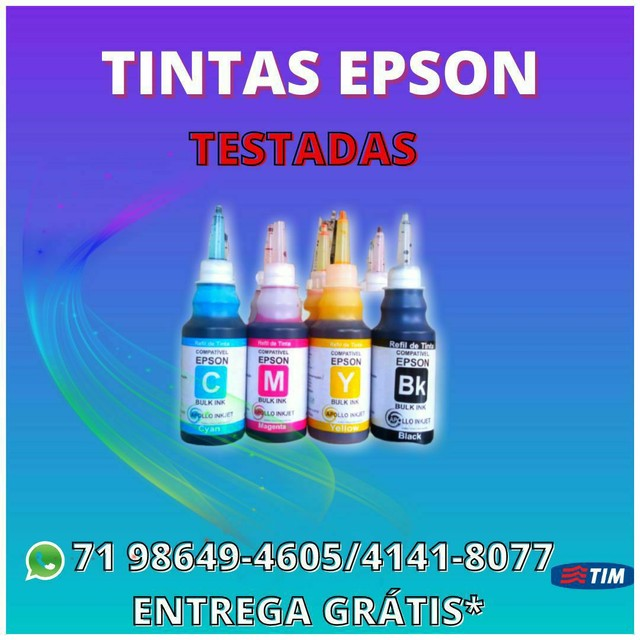 Tintas Para Impressoras_ Kit 4 litros_EPSON / Hp/ Canon_ Tintas Corante e Sublimática  - Foto 2