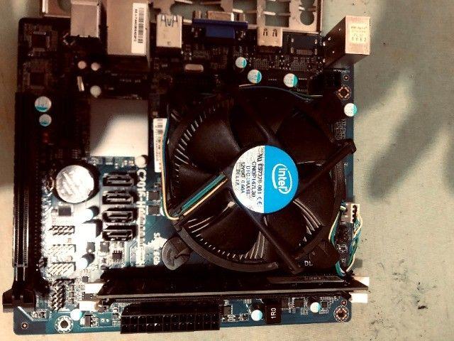 Kit placa mãe 1151+processador i3 6100+memoria ddr4 de 8gigas+hd wd 7200 de 500 gigas - Foto 2
