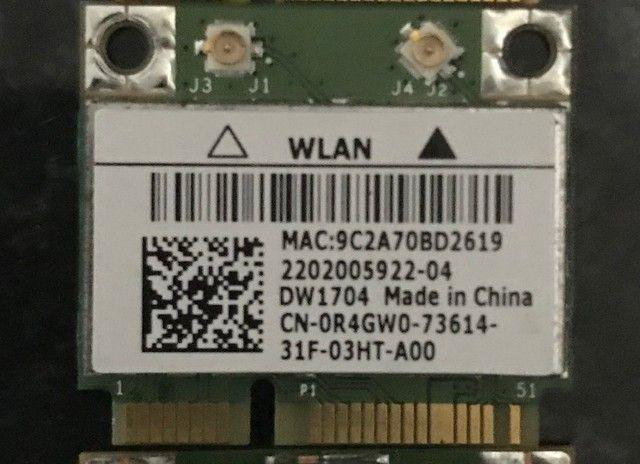 Wi-Fi DW1704 para DELL sem fio 300Mbps Bluetooth 4.0 MiniPCI