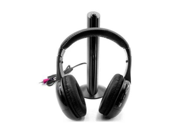 Earphone  5x1 Sem Fio Hi-fi Bluetooth Headphone, Tv, Rádio, novo na caixa e sem uso - Foto 4