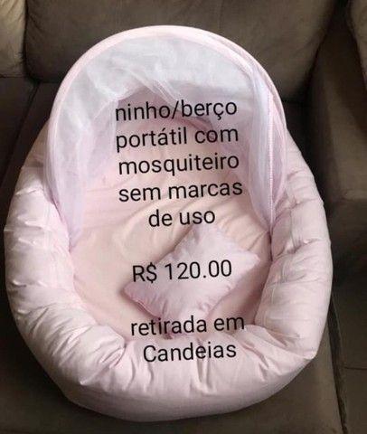 Ninho/berço com mosquiteiro sem marca de uso