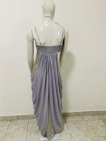 Vestido longo prata e cinza - Foto 3