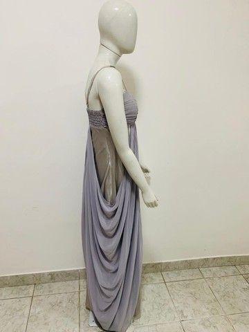Vestido longo prata e cinza - Foto 2