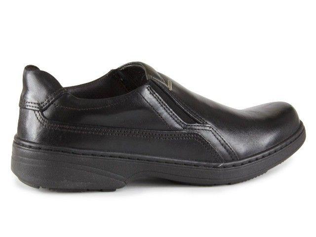 Sapato Social Masculino De Couro Pegada Preto 21206-1 N° 38 - Foto 3