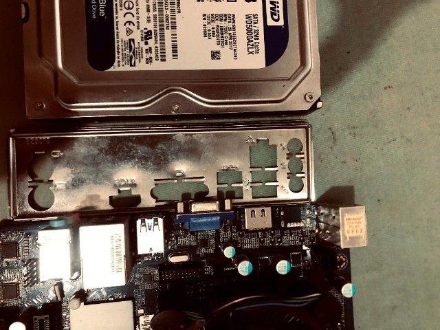 Kit placa mãe 1151+processador i3 6100+memoria ddr4 de 8gigas+hd wd 7200 de 500 gigas - Foto 3