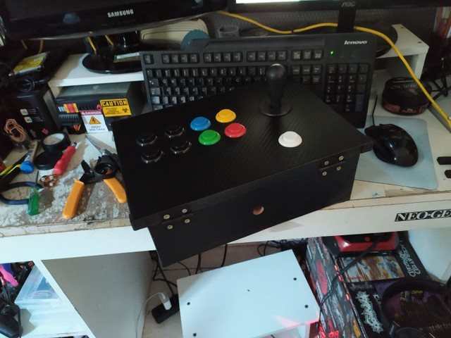 Controle arcade 1player.. ( sem parte elétrica) - Foto 2