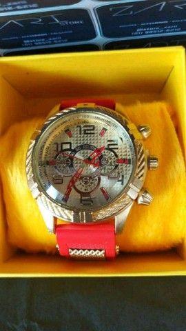 Relógio Masculino Silicone Luxo