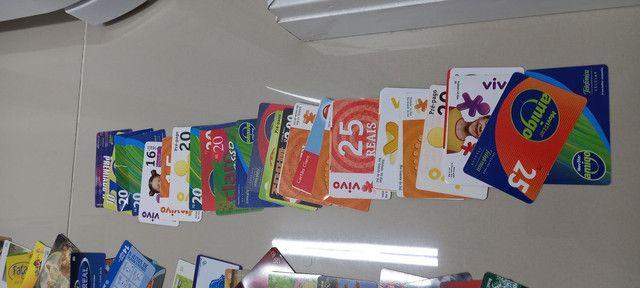 222 Cartões Telefônicos e de Recargas Para Coleções  - Foto 3