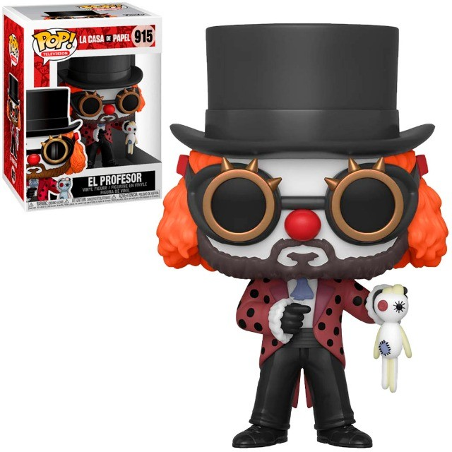 Funko Pop La Casa De Papel El Profesor W/Clown Mask 915
