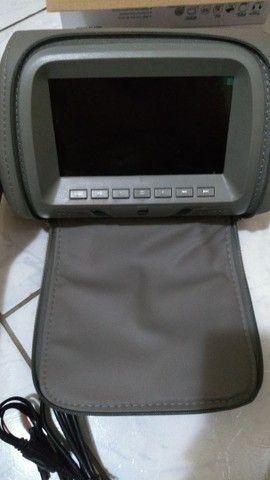 Encosto de Cabeça Veicular Multimídia 7 polegadas - Foto 3